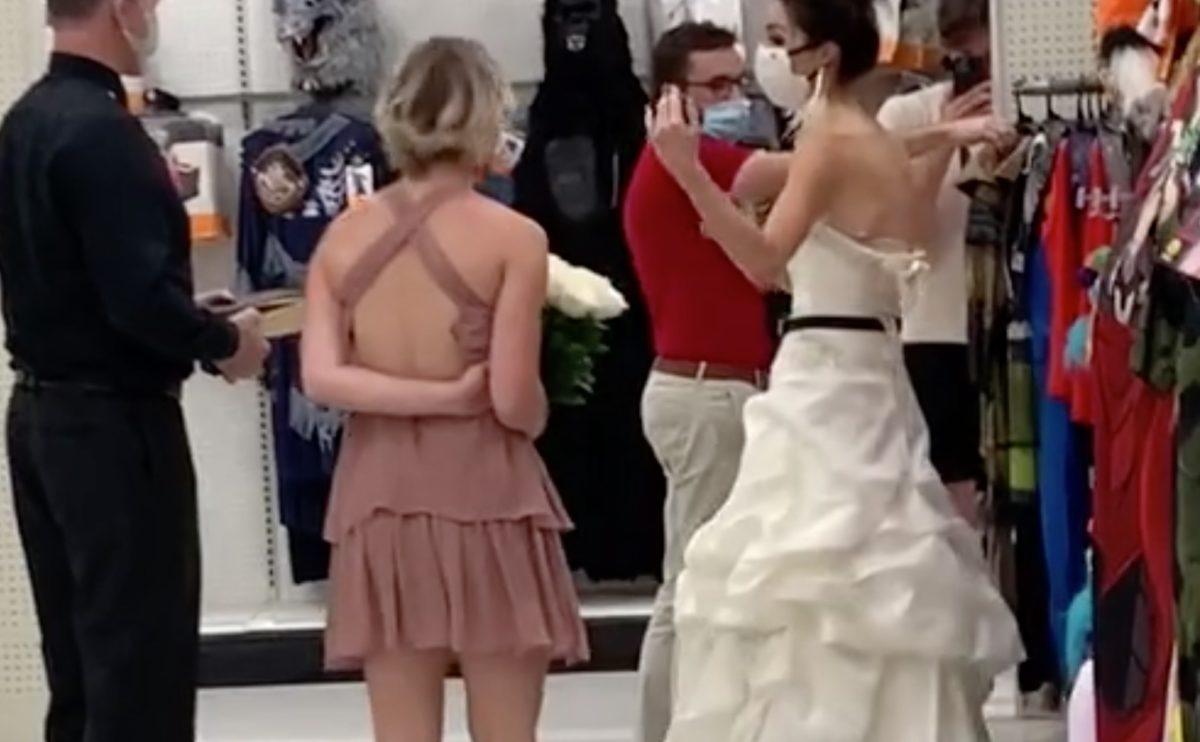 TikTok Video Shows Bride Storming Into Target Demanding Her Boyfriend to Marry Her