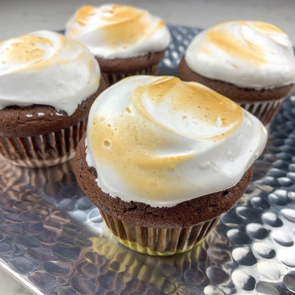 S'more cupcake recipe finished cupcakes ready to serve