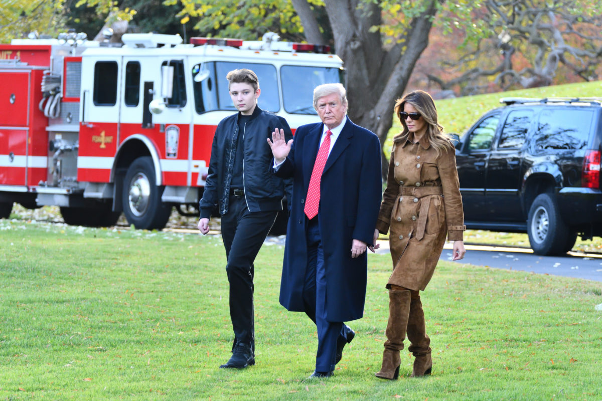 first lady melania trump reveals her son barron trump had also tested positive for covid-19, but showed no symptoms | melania revealed that barron didn't show any symptoms.