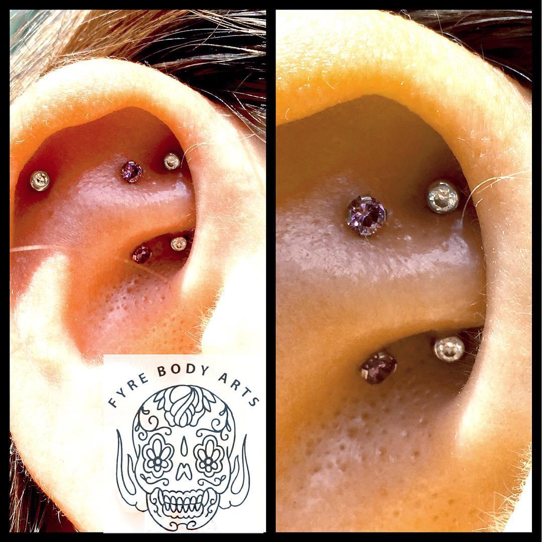 25 subtle inner-ear piercings