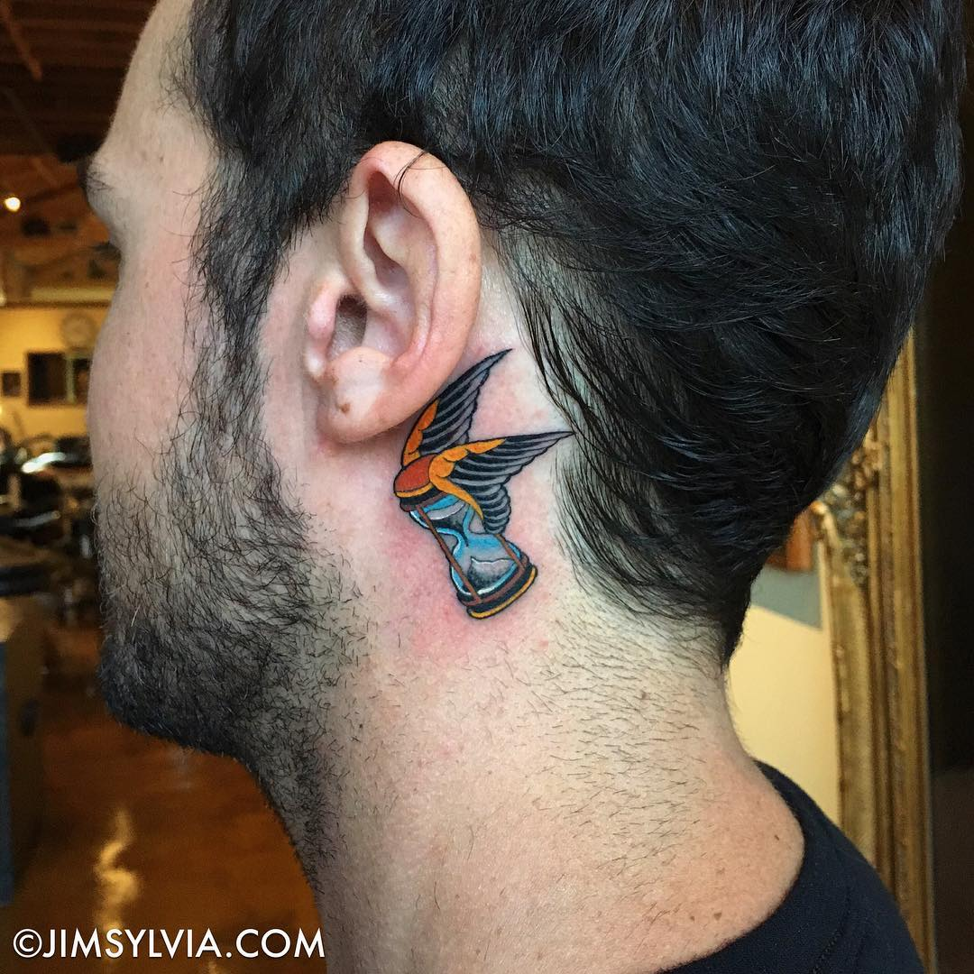 25 behind the ear tattoos that are the perfect little peekaboo