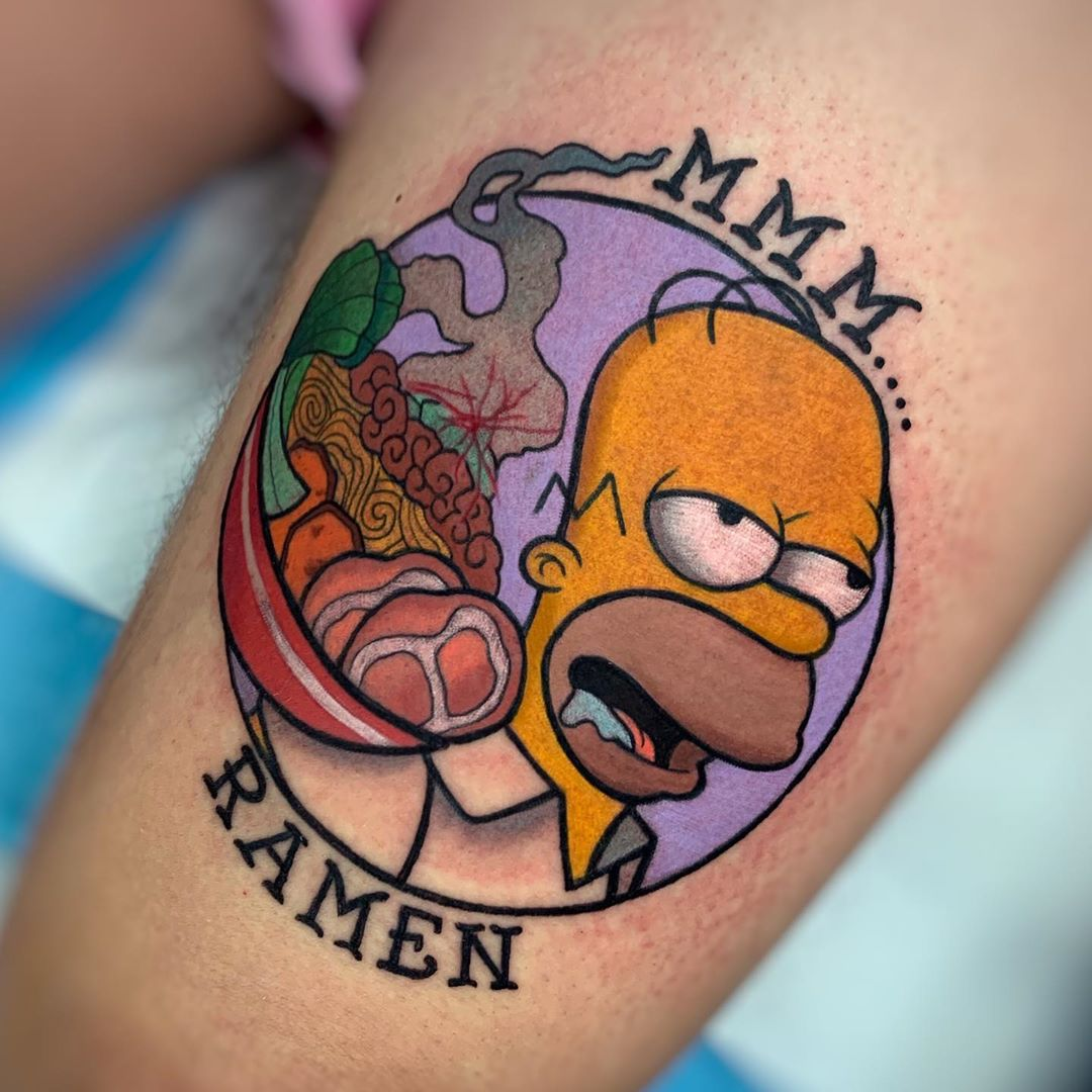 25 funny simpsons tattoos as wacky and wild as the show itself