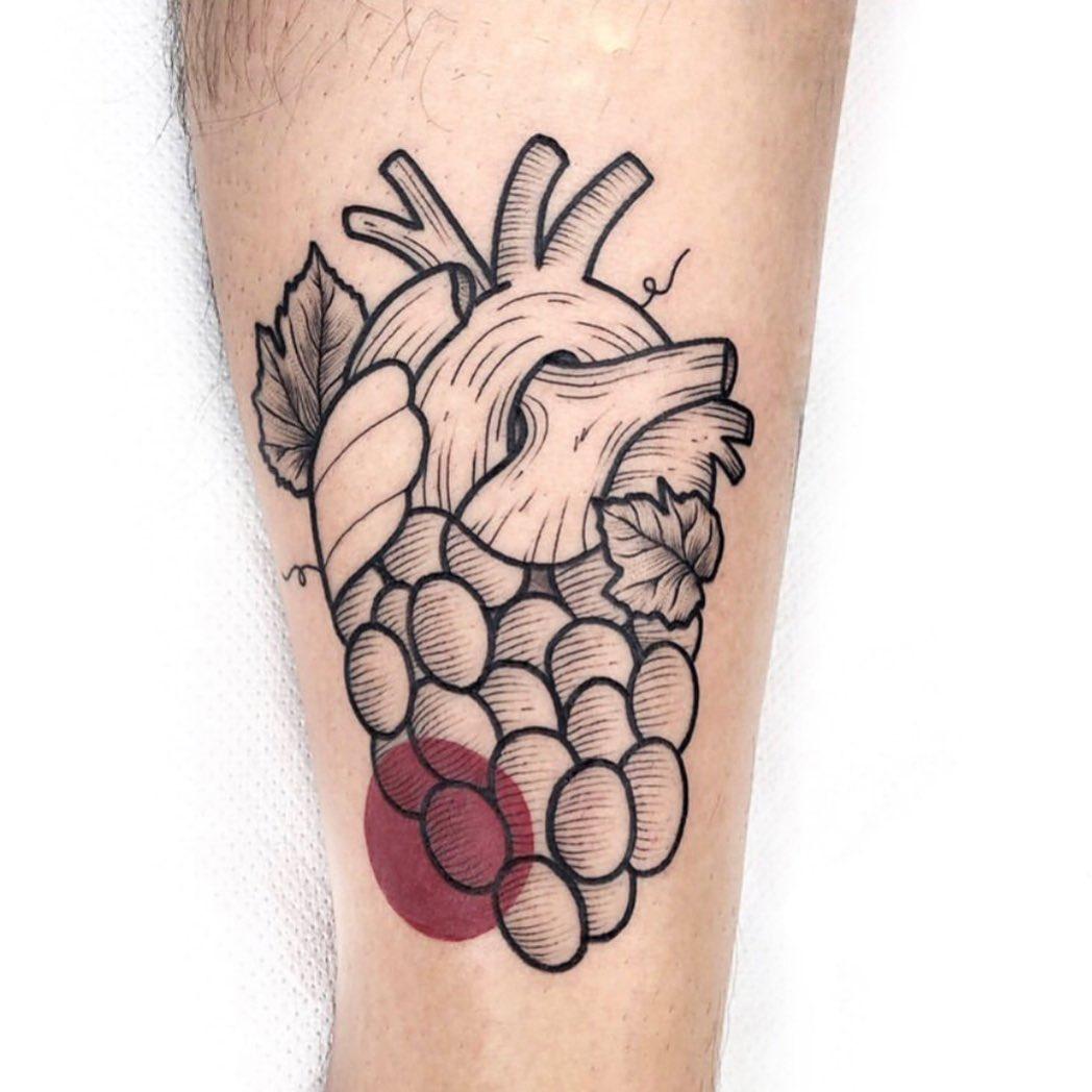 25 boozy tattoos for those who enjoy wine time