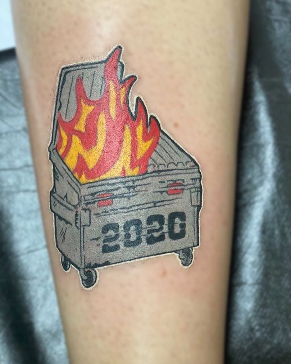 this trash year has spawned some unbelievable tattoos about 2020