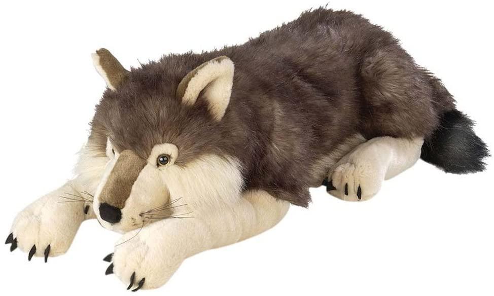 Wild Republic Jumbo Wolf Plush, Giant Stuffed Animal