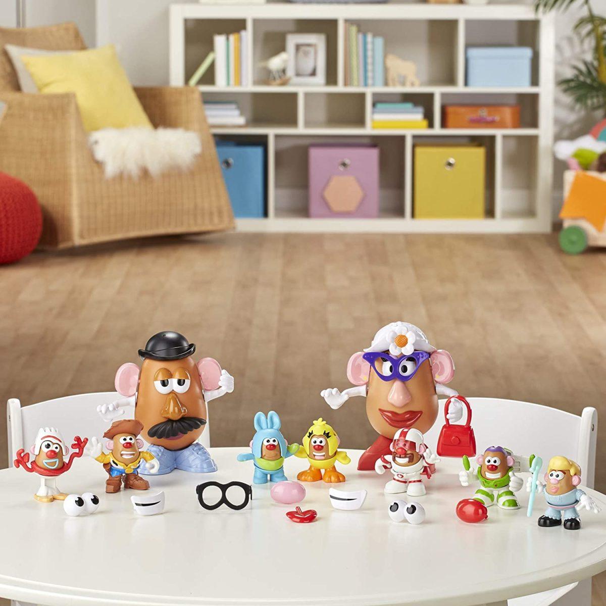 mr. potato head disney/pixar toy story 4 andy's playroom potato pack - amazon