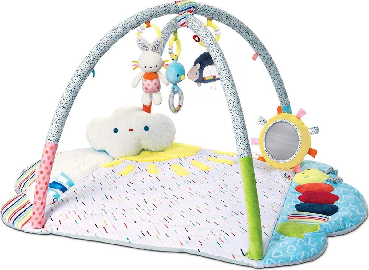 gund baby tinkle crinkle & friends arch activity gym playmat sensory stimulating plush