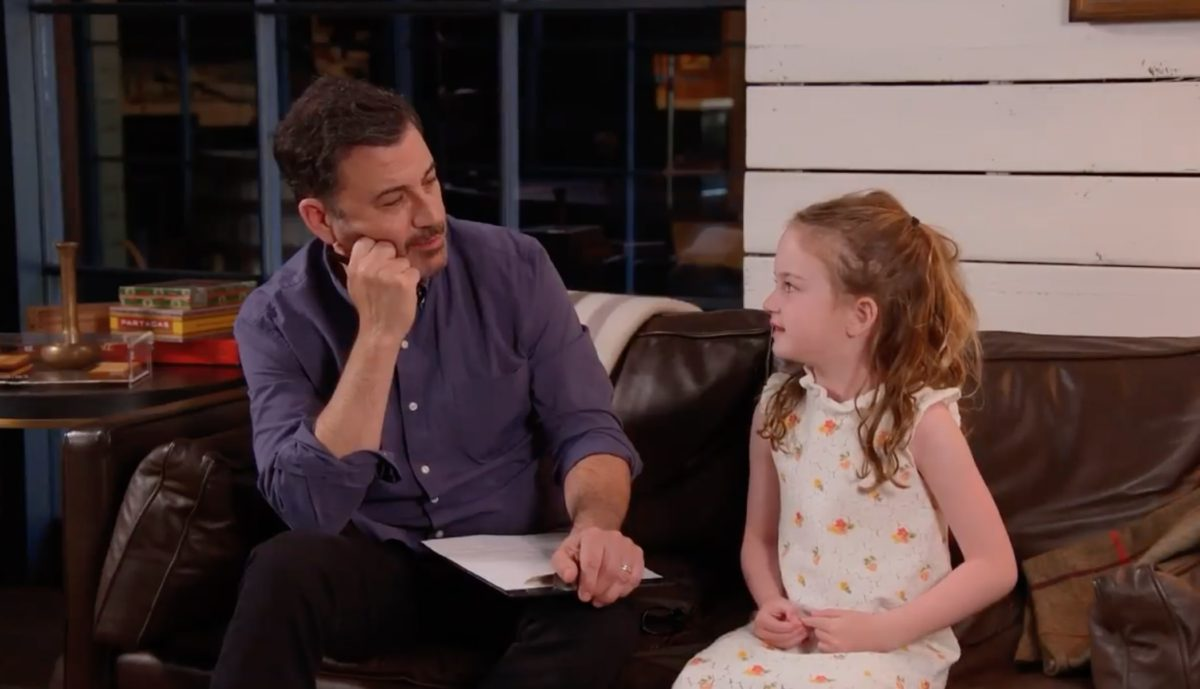 Jimmy Kimmel Says His 6-Year-Old Daughter Was Watching CNN