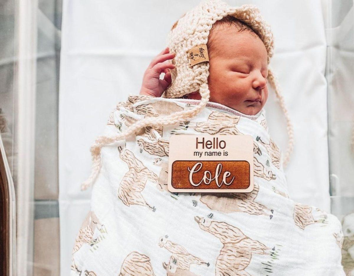 youtuber brittani boren leach welcomes baby boy