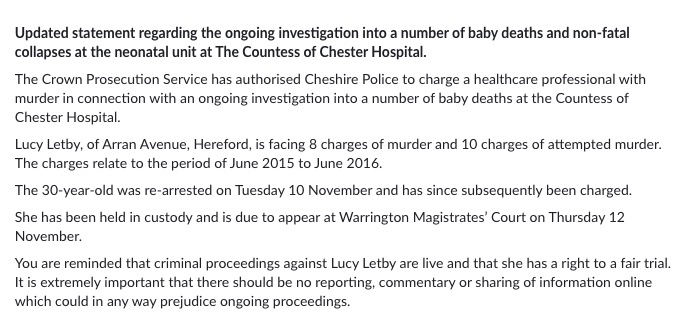 British Nurse Charged with Murder of 8 Babies in Neonatal Unit Denied Bail