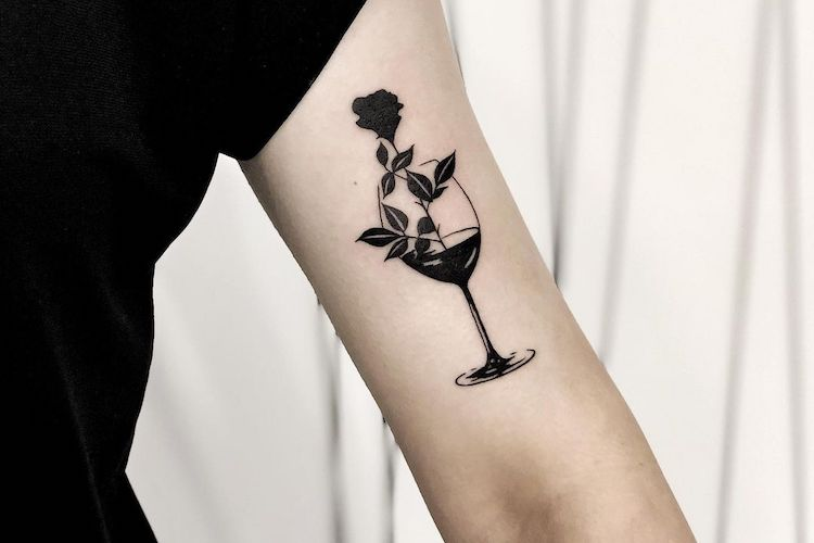 25 Boozy Tattoos for Those Who Enjoy Wine Time