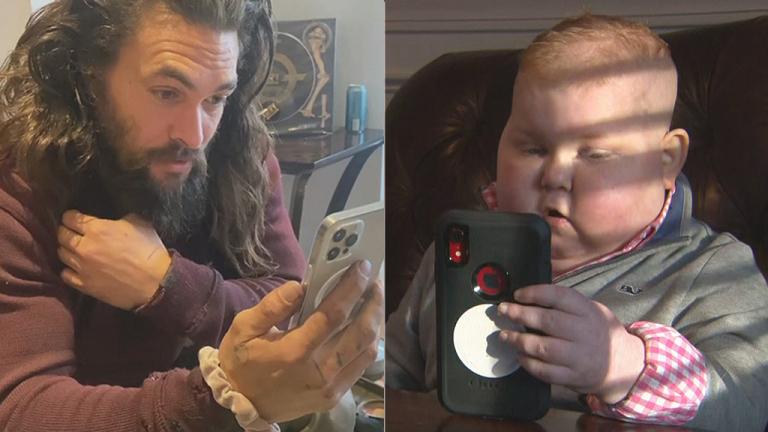 Jason Momoa Surprises Boy with Terminal Cancer