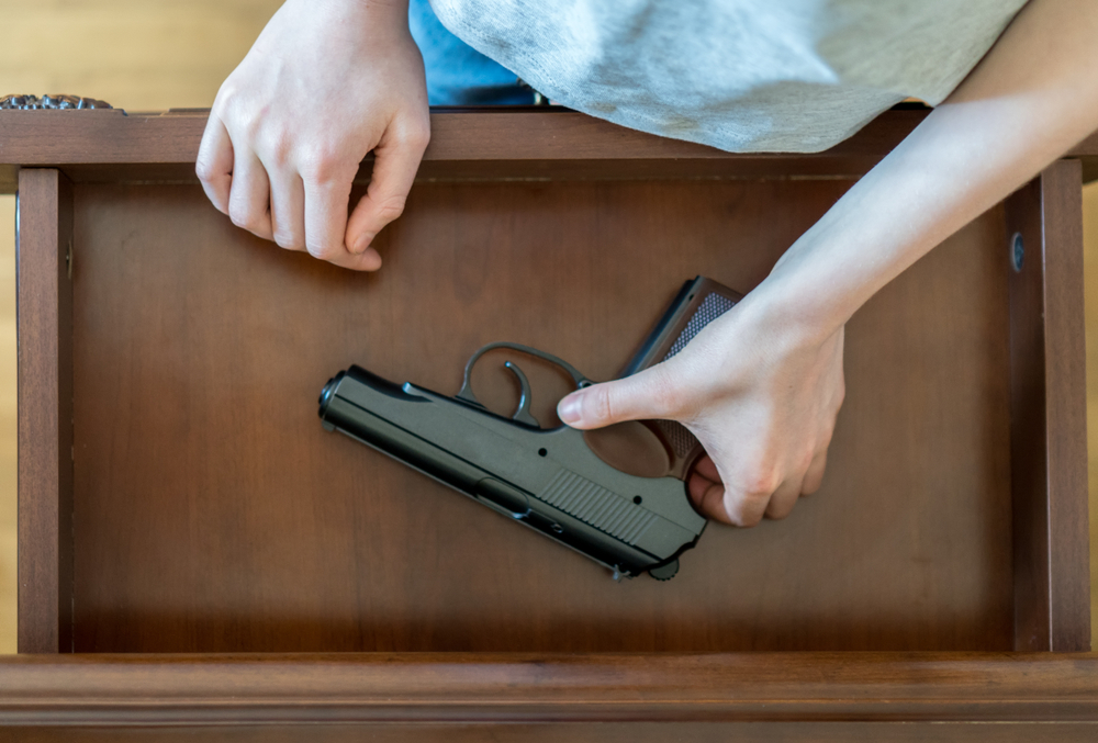 this mom refused to let her in-laws babysit her children because they have a gun in their house: is she wrong? | one mom is facing a tough situation with her in-laws: they own guns and she does not want them to babysit her children unless the guns are under lock-and-key. she asked reddit readers their thoughts on the issue.
