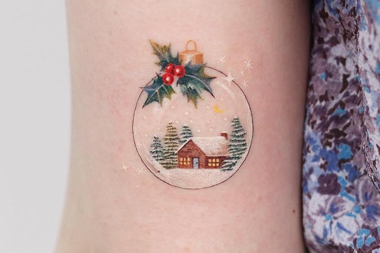 25 Christmas Tattoos That Bring the Jolly All Year Long