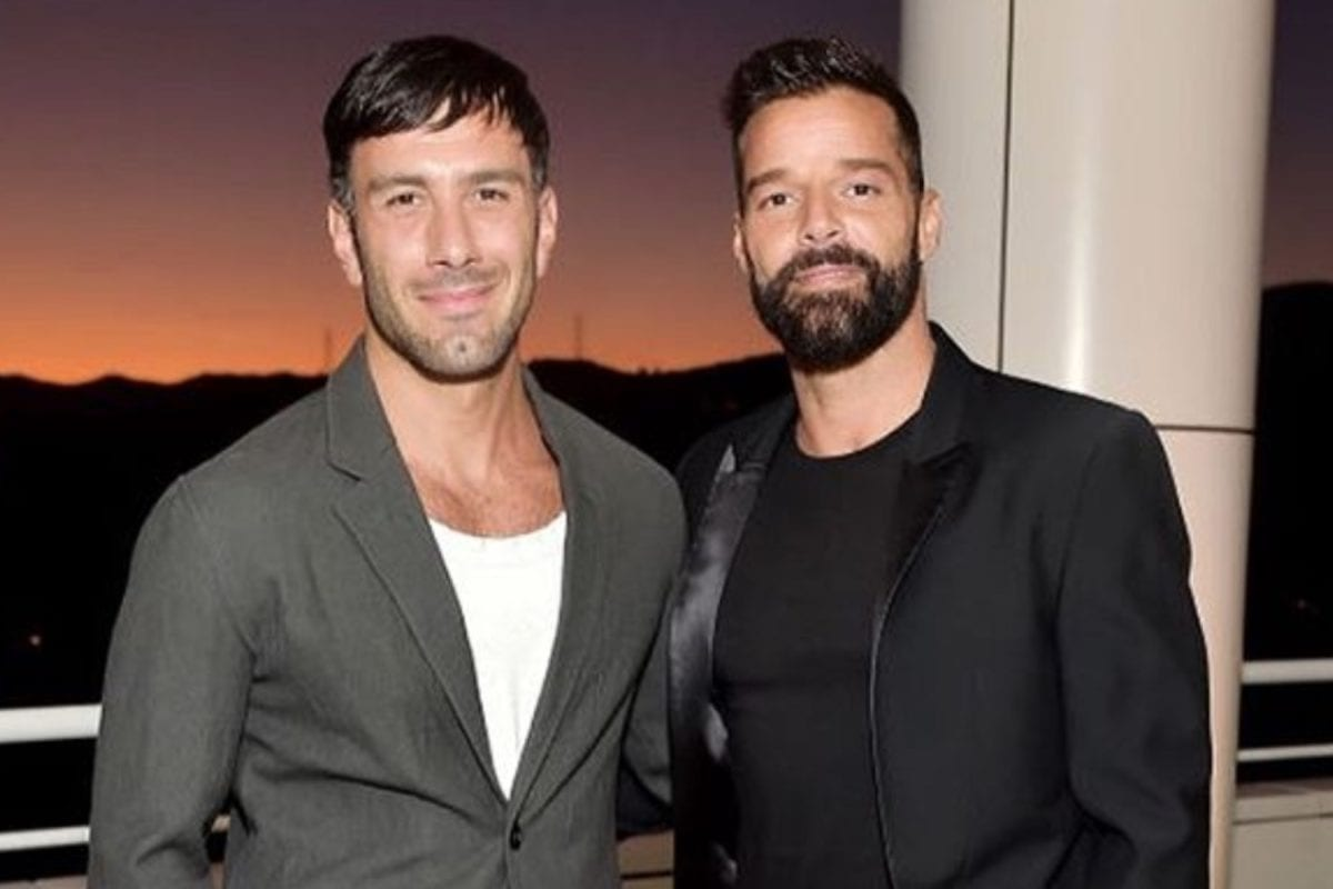 ricky martin shares rare photo of youngest son renn