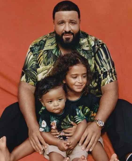 "dj khaled says his boys ""bring him joy every single day""   dj khaled is one proud pop."