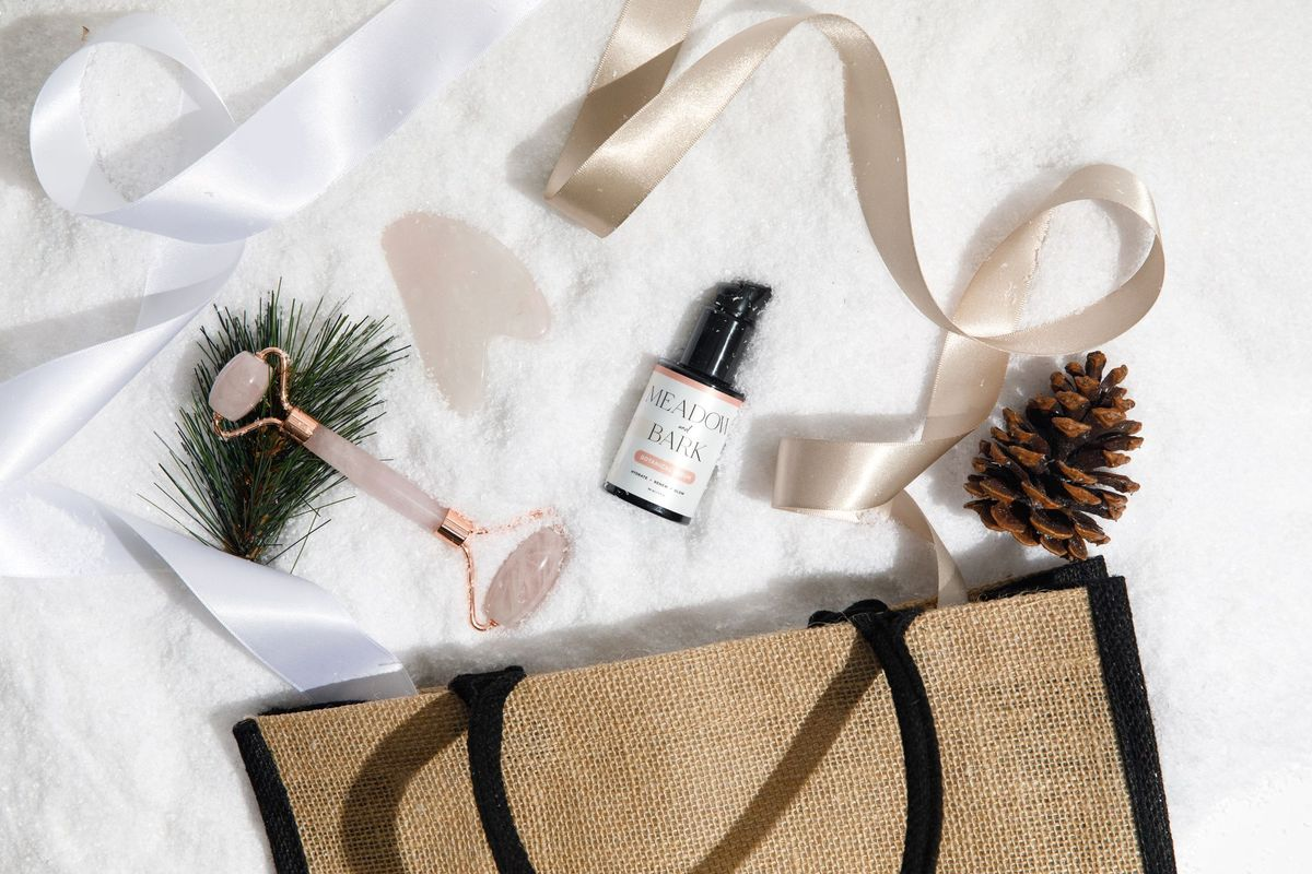 give mom the gift of a relaxing night in with these affordable skincare products from meadow and bark