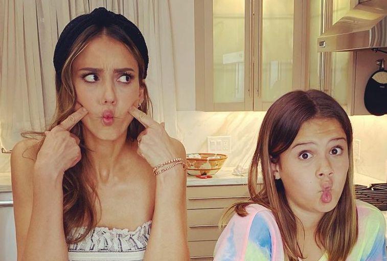 Jessica Alba's Kids Think She's Cringy