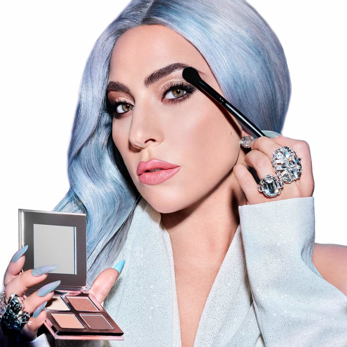 lady gaga made her beauty brand exclusively available to amazon...so go ahead try some of her stuff out | ...but lady gaga's is available on amazon.