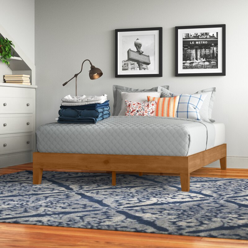revamp your living room, bedroom, home office, and more with these top rate items from wayfair | parenting questions | mamas uncut harneysolidwoodlowprofileplatformbed