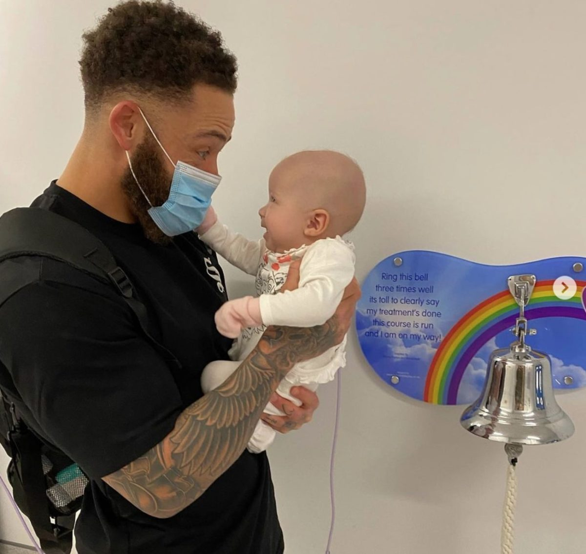 ashley cain's 5-month-old receives stem cell transplant