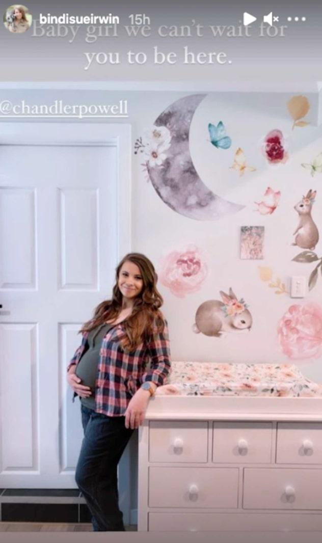bindi irwin reveals daughter's animal-themed nursery