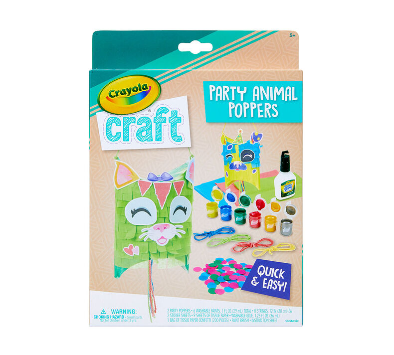 must-haves for parents to help keep their kids busy, entertained, and having fun at home | parenting questions | mamas uncut 04 1027 0 200 craft party animal poppers f1