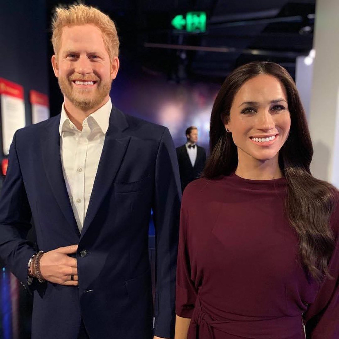 meghan markle's wax figure gets baby bump to celebrate the duchess' happy news