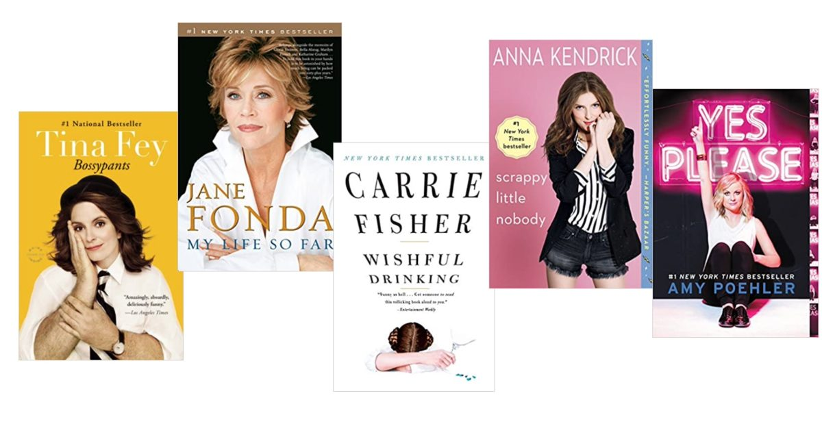 25 celebrities who are also published authors, this is a list of their books
