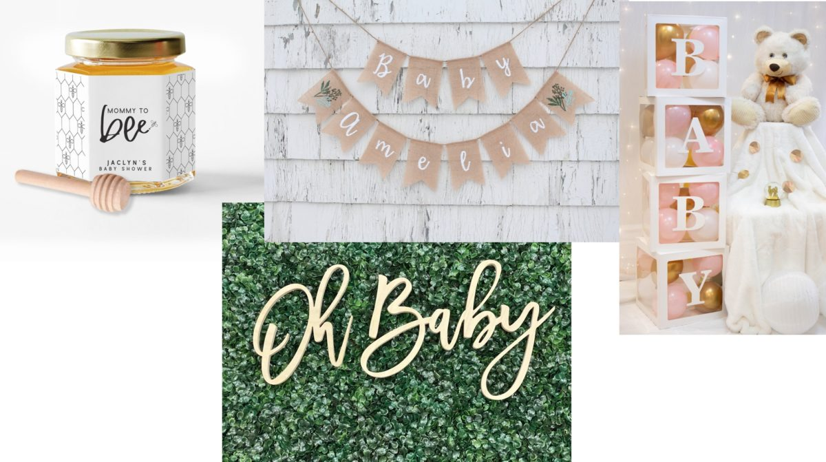 baby on the way? here are 10 customizable baby shower decorations