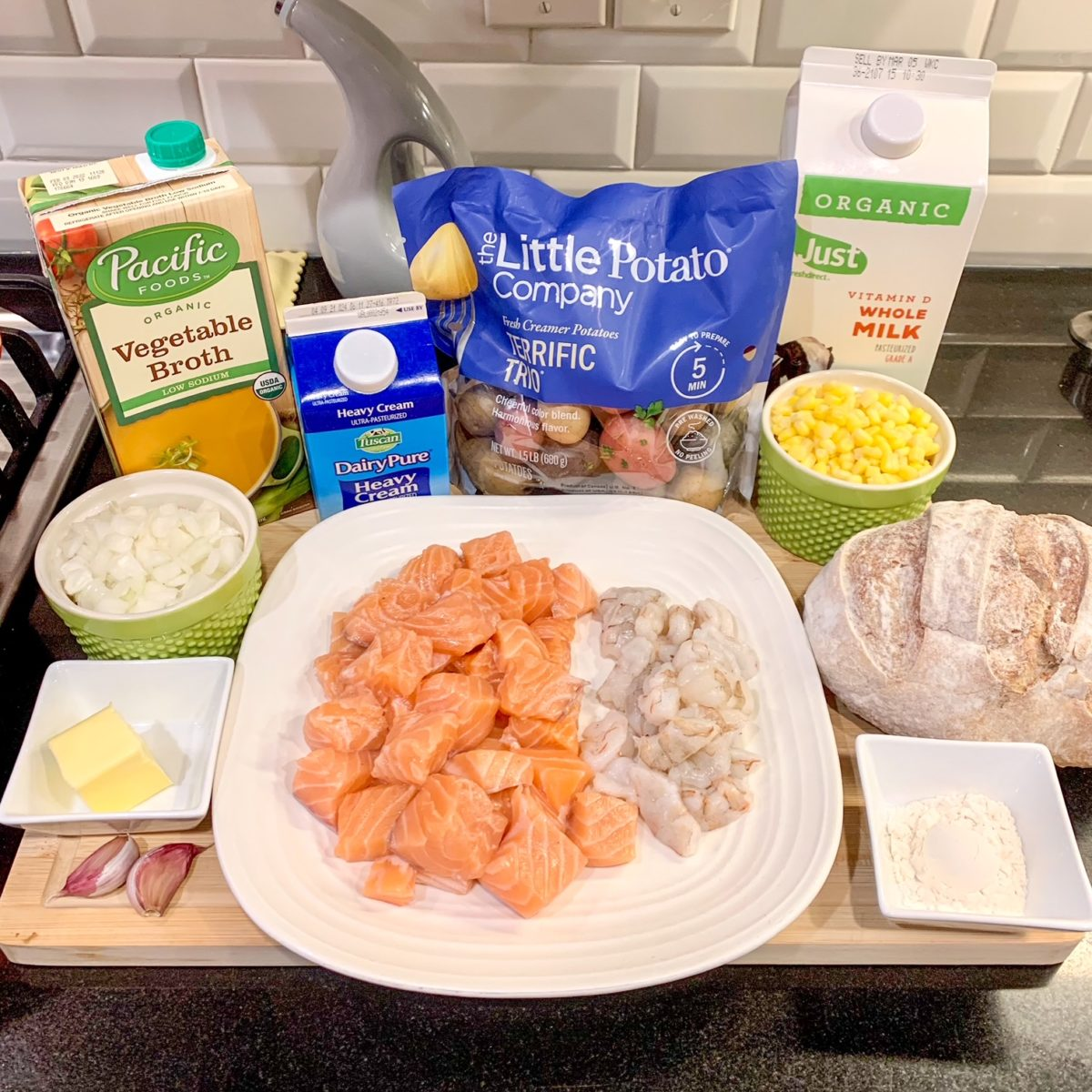 30 minute seafood chowder bread bowls from ayesha curry