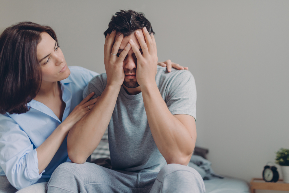 i am pregnant and struggling to help my husband cope with bad depression and anxiety: advice?
