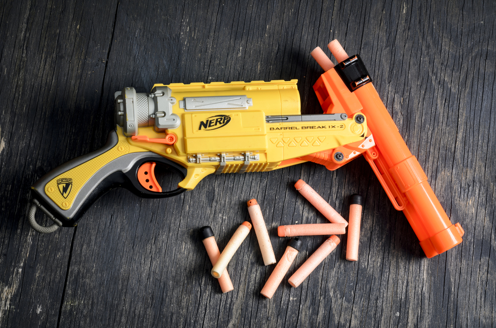 is it okay to let your children play with nerf guns?