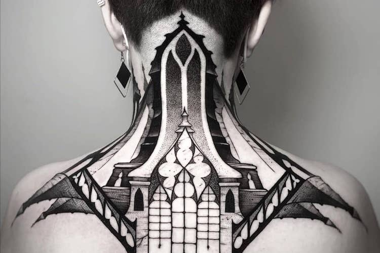 25 architecturally inspired cathedral tattoos that embrace gothic style