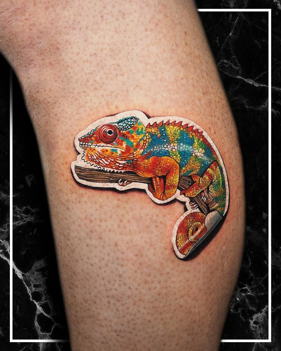 25 sticker tattoos that look like they peel off