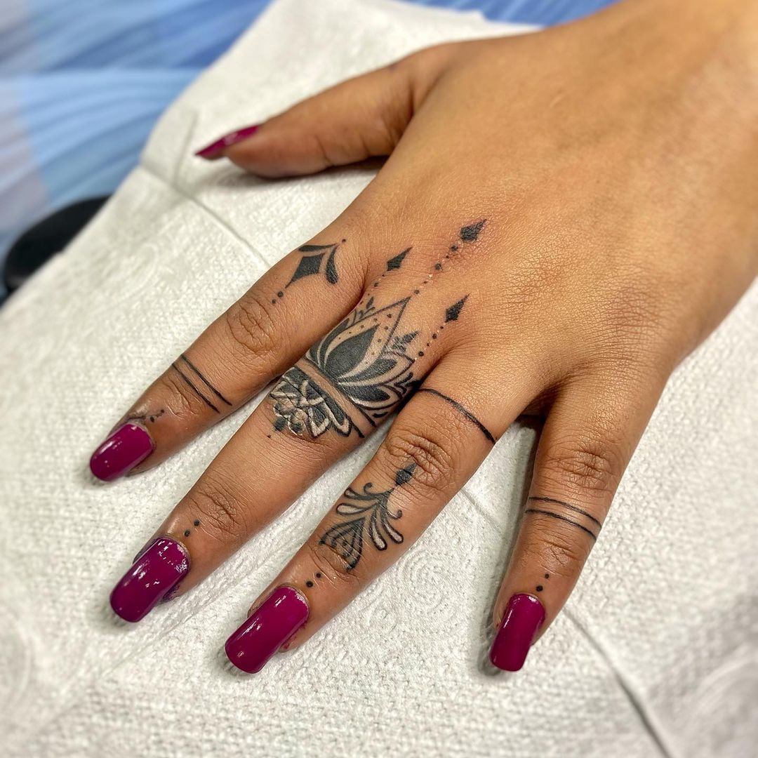 chrissy teigan just got finger tattoos, let's discover more ways to decorate your digits with ink | parenting questions | mamas uncut 159960941 373545237279666 3588140771671838800 n