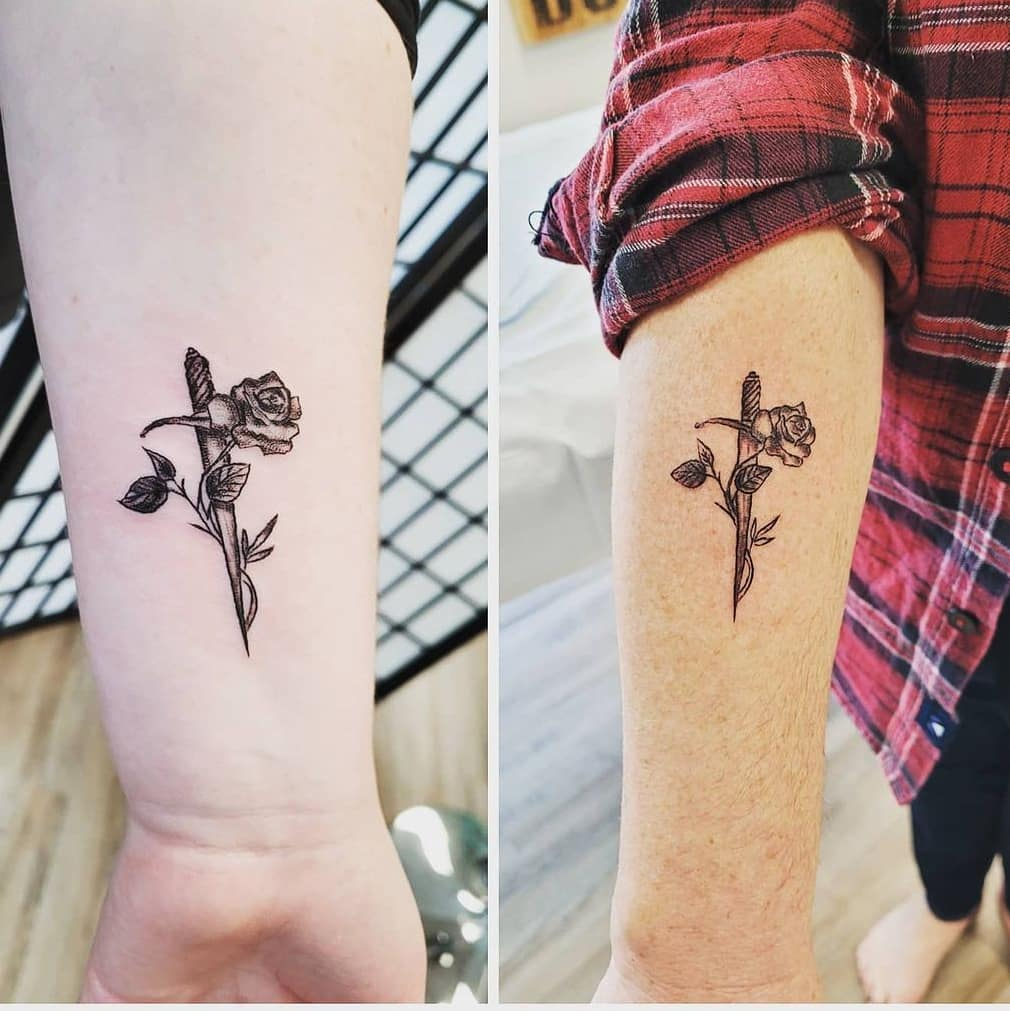 vanessa bryant and daughter natalia get tattoos together, here are 25 mother-daughter tattoo ideas if you want to do as the bryants did
