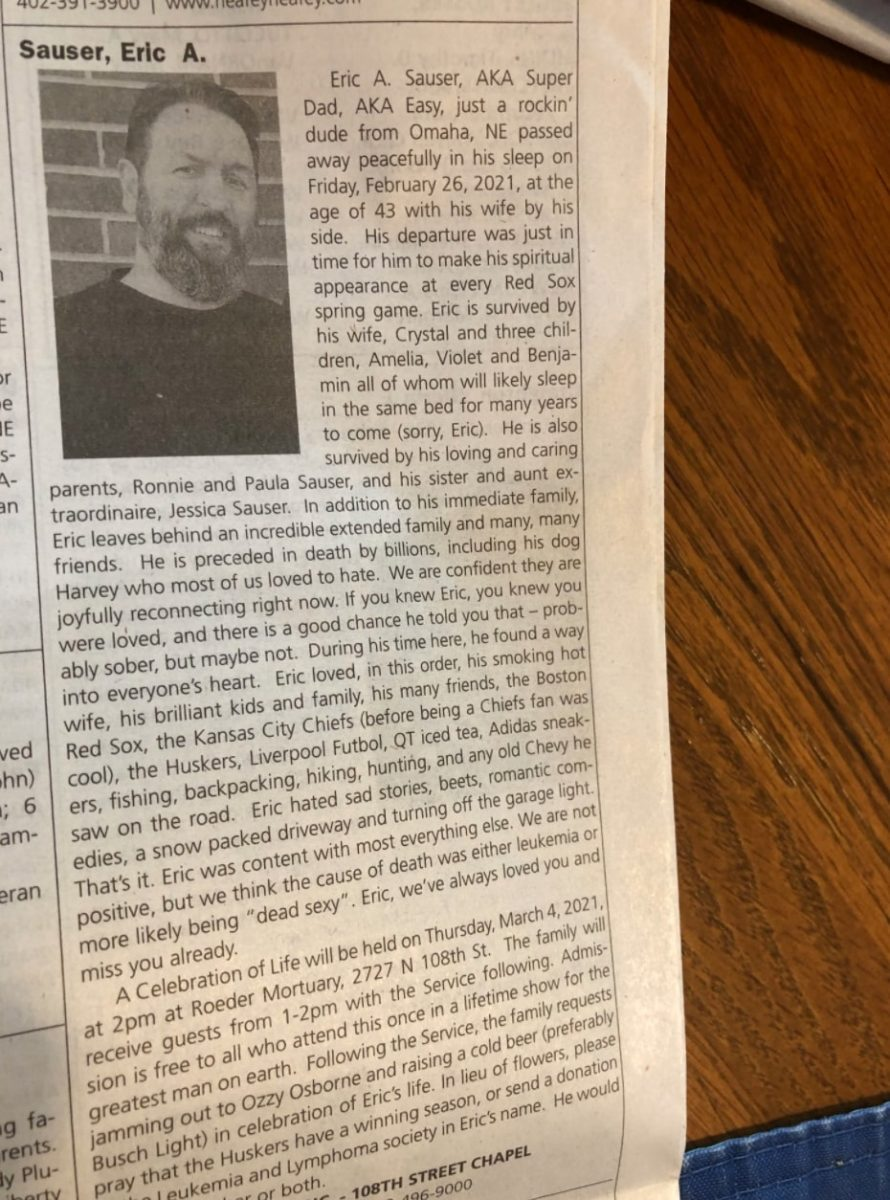wife writes clever obituary for late husband, goes viral