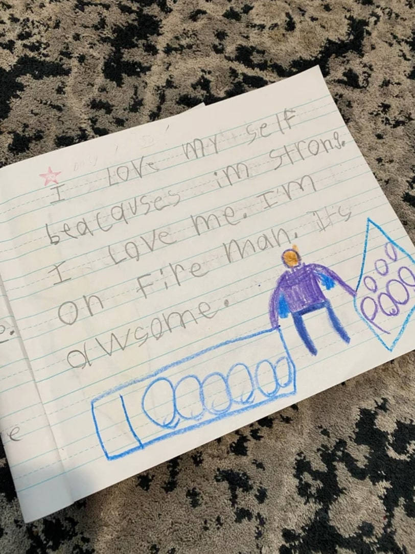 7-year-old's sweet note to himself goes viral