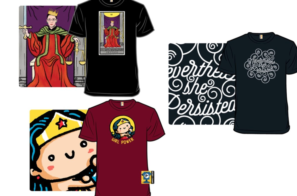 8 fun t-shirts from woot! to help you celebrate the power of women