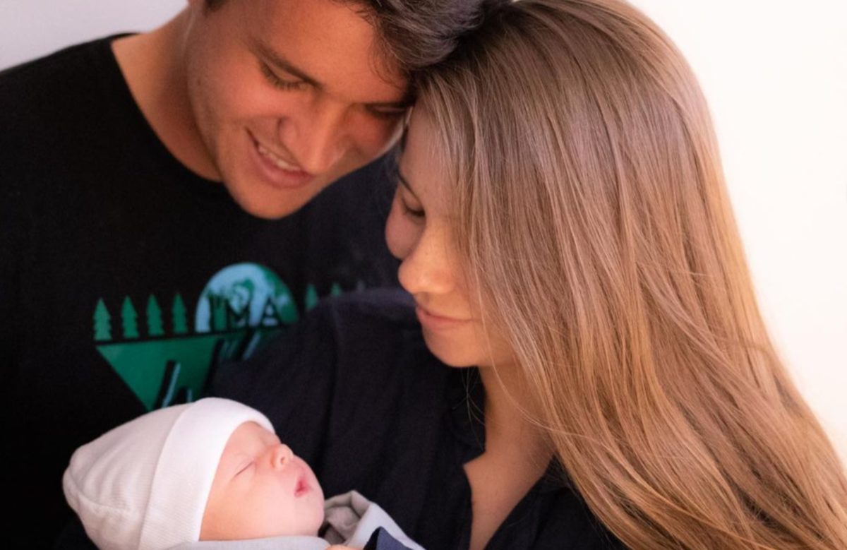 bindi irwin and chandler powell welcome their first child exactly one year after becoming husband and wife