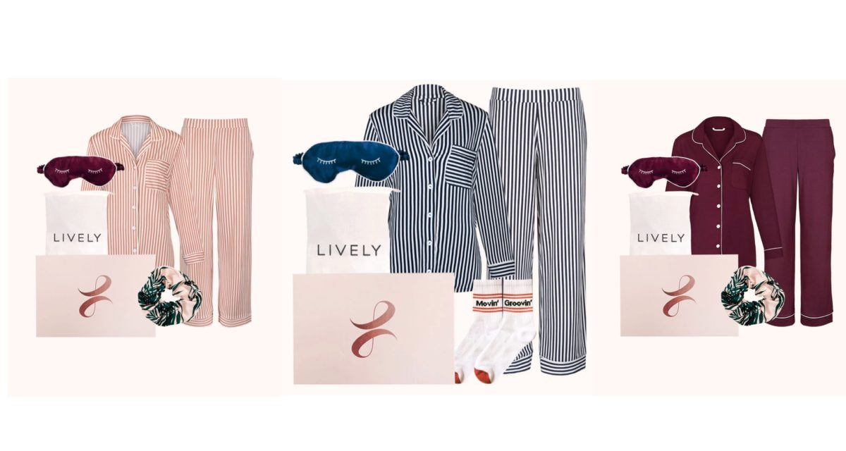 in need of a quick gift, check out this cozy lounge kit from lively for less than $100