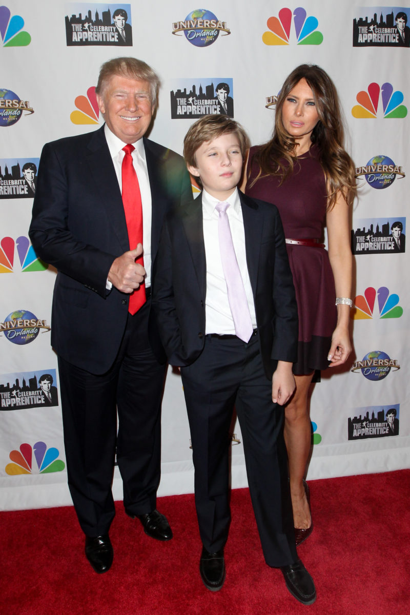 melania trump wishes son barron a happy birthday and people can't understand why she chose this photo