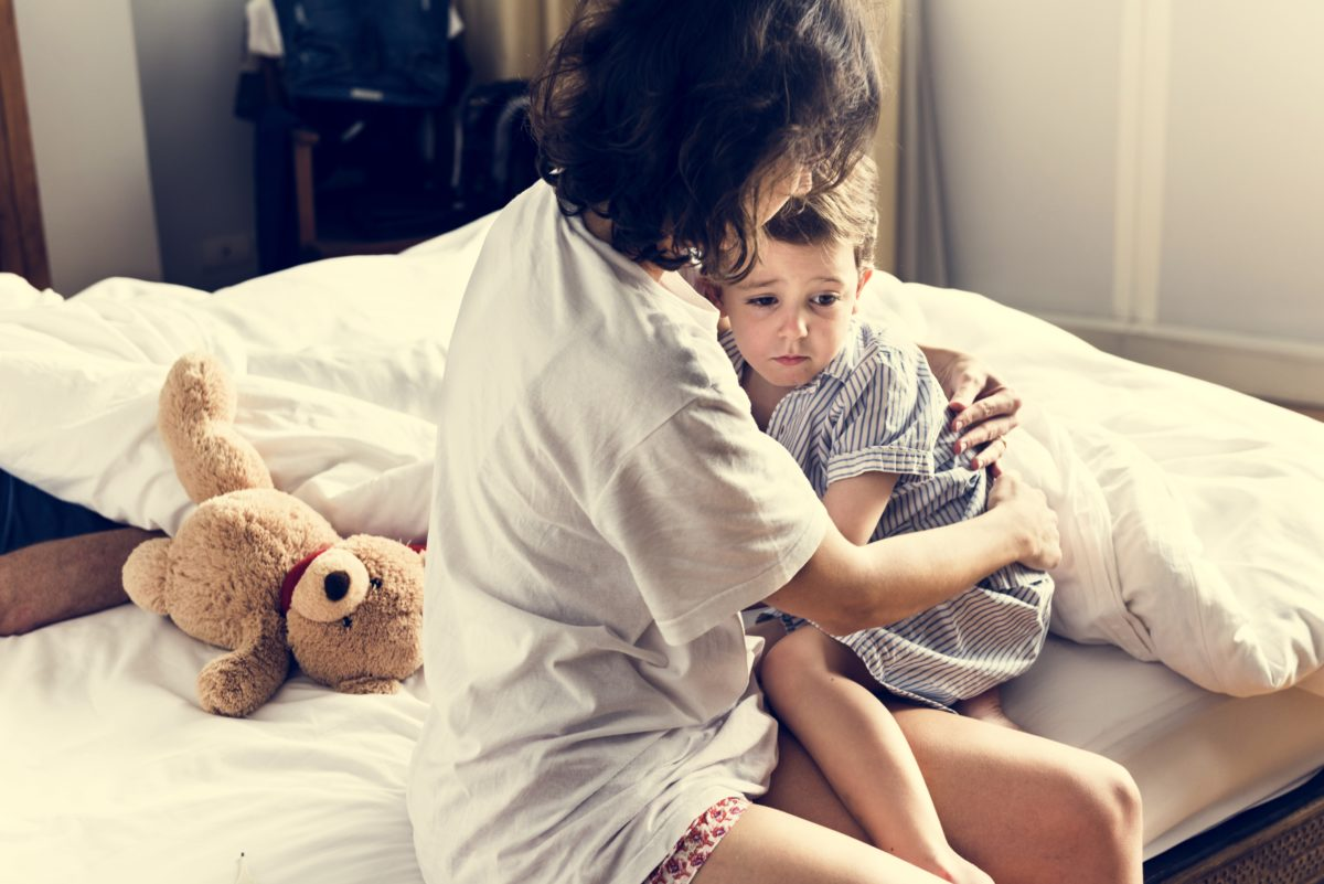 i need your help: what can i do about my son being afraid of men?