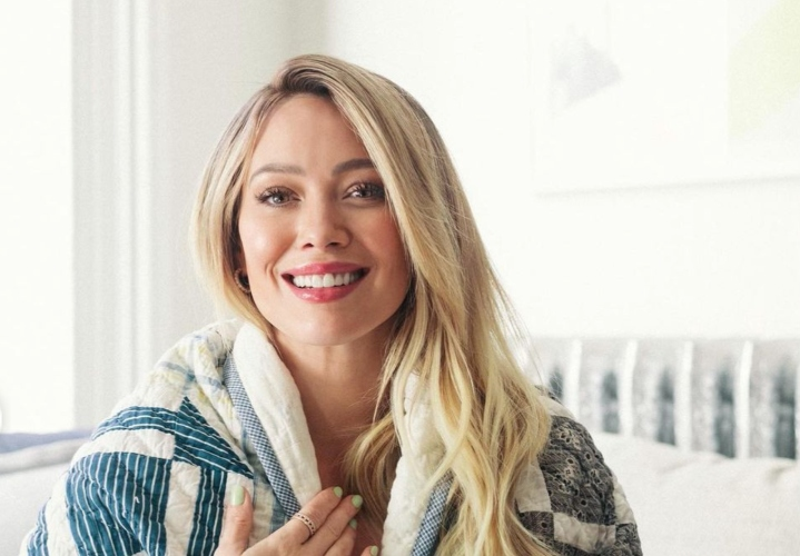 hilary duff posts adorable snap of 2-week-old daughter mae