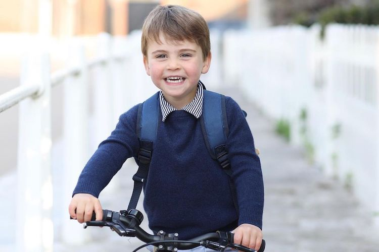 you have to see prince louis' cute first day of preschool photo shared for his third birthday
