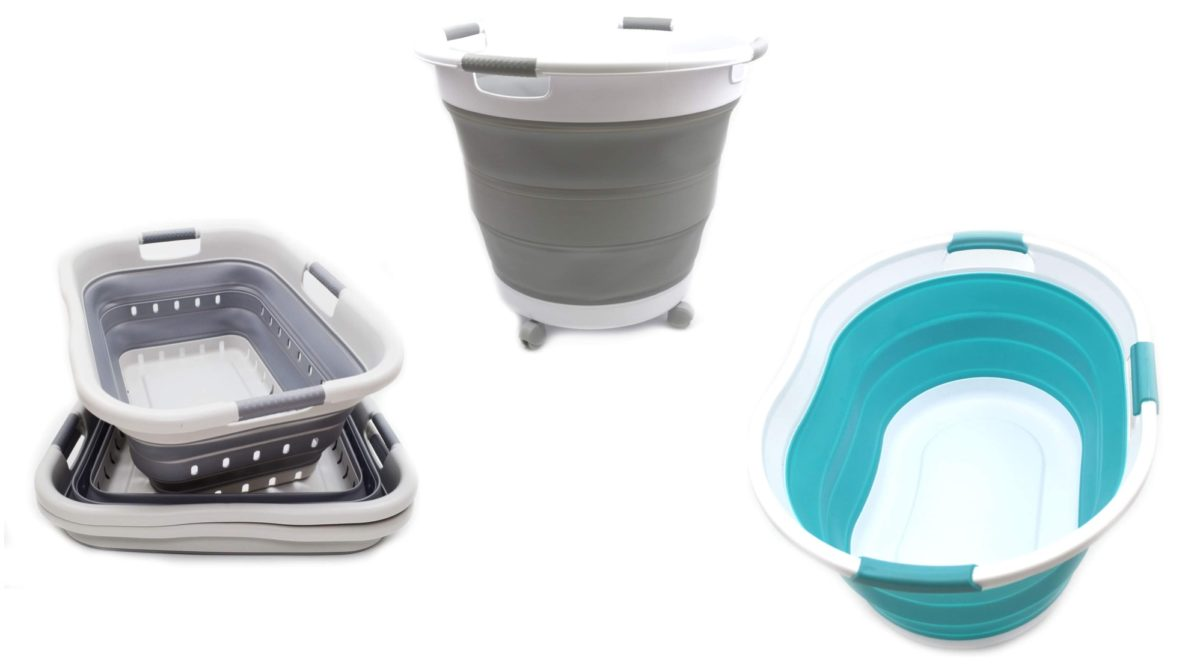 people are obsessed over these collapsable laundry baskets, now you can obsess over them too