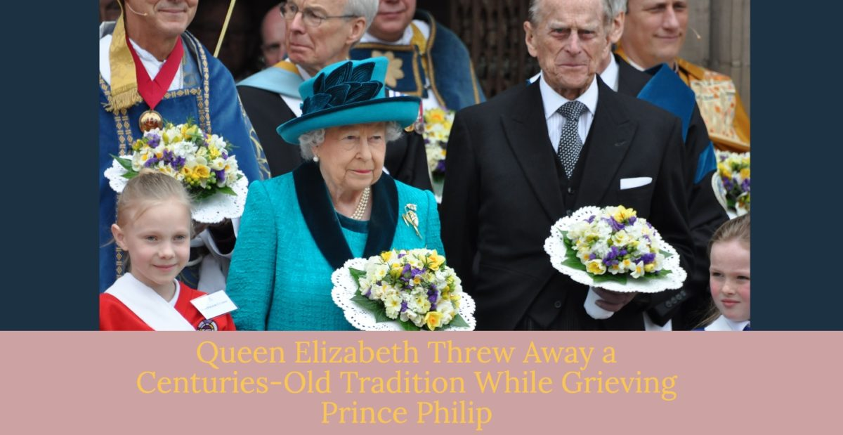 queen elizabeth broke centuries-old royal tradition with what she didn't do at prince philip's funeral