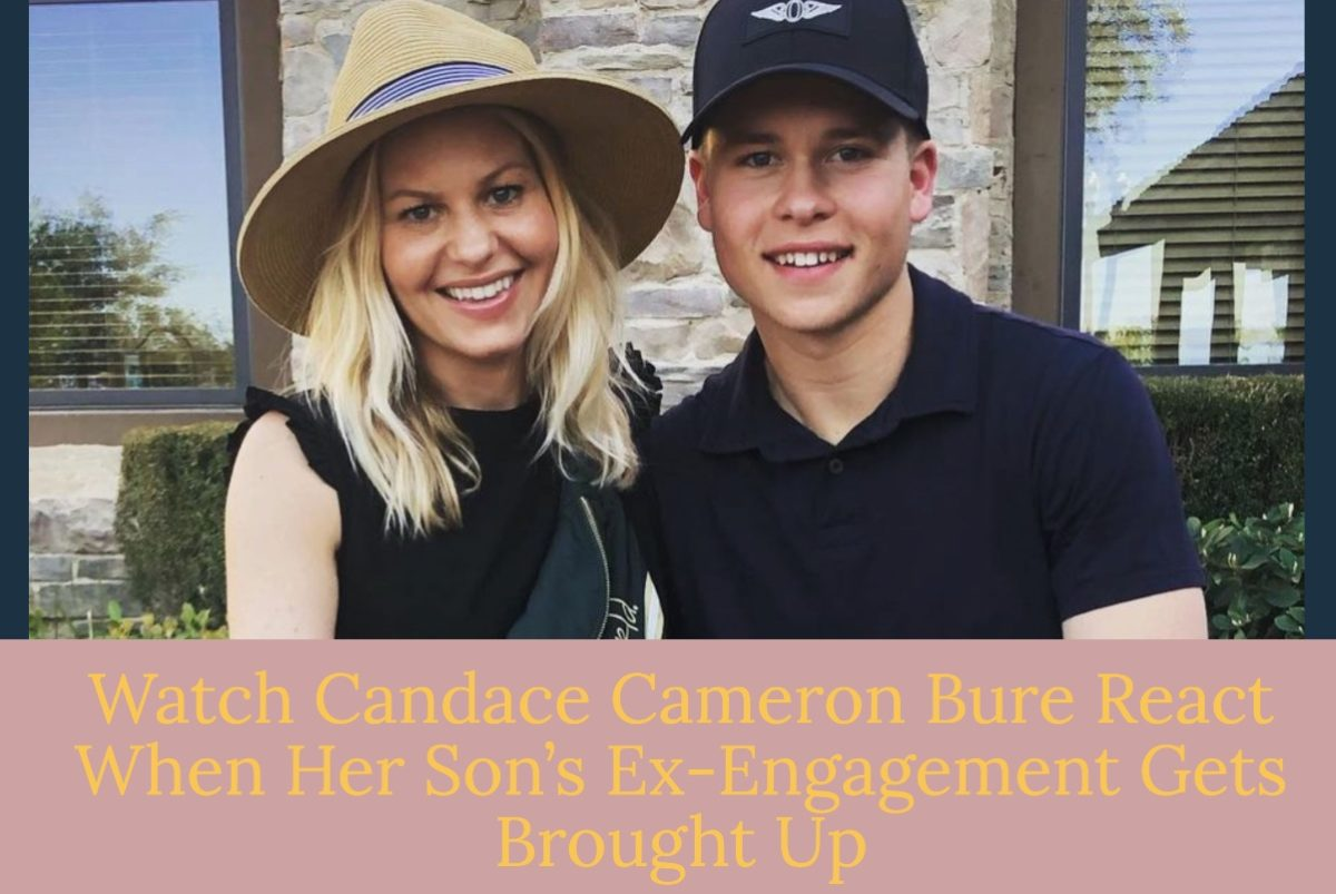 candace cameron bure had no idea that topic was going to get brought up.