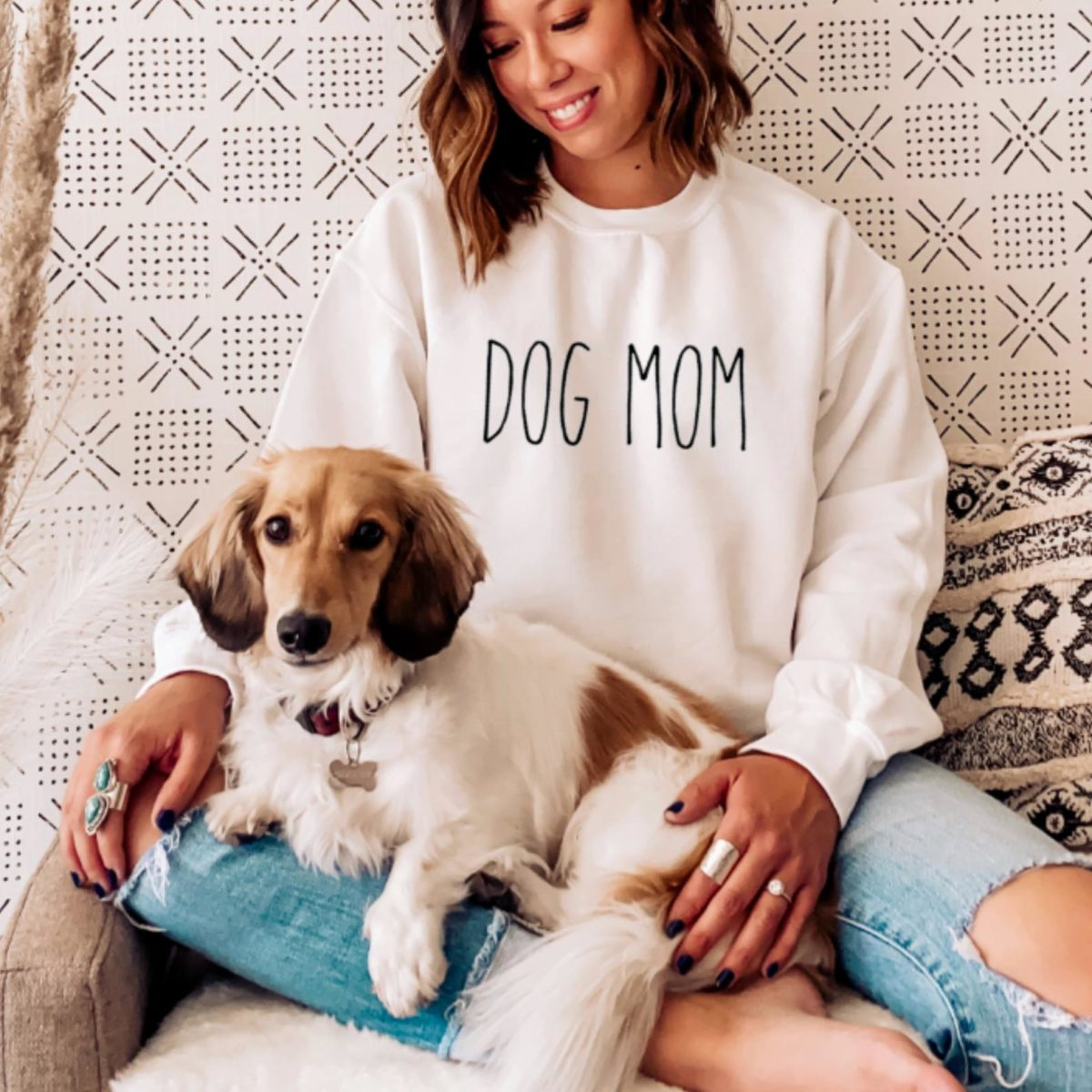 celebrate your favorite dog mom this mother's day with this adorable dog mom sweatshirt that so many love